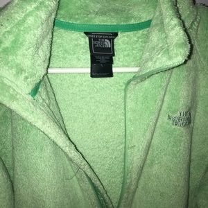 THE NORTH FACE MINT GREEN FUZZY JACKET